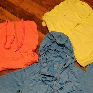 NWOT-Stretchy hooded shirts $10 each